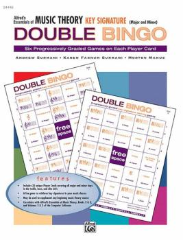 Alfred's Essentials of Music Theory: Double Bingo Game -- Key Signatur (AL-00-24448)
