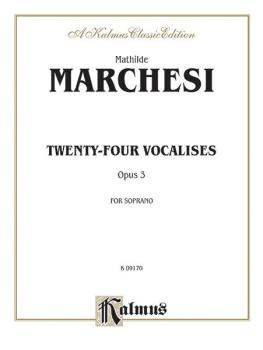 Twenty-four Vocalises for Soprano, Opus 3 (AL-00-K09170)