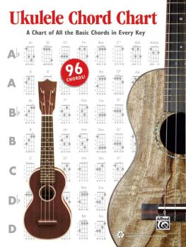 Ukulele Chord Chart: A Chart of All the Basic Chords in Every Key (AL-00-42316)