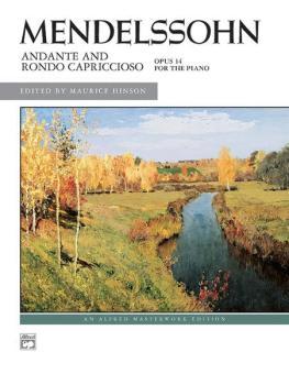 Andante and Rondo Capriccioso, Opus 14 (AL-00-3577)
