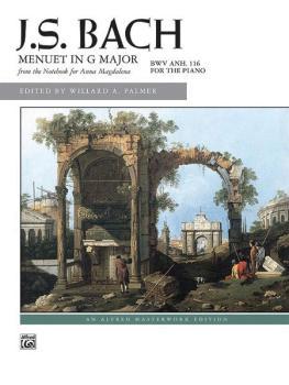 Menuet in G Major, BWV Anh. 116 (AL-00-6394)