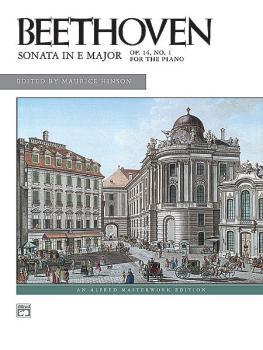 Sonata in E Major, Opus 14, No. 1 (AL-00-8051)