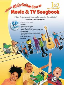 Alfred's Kid's Guitar Course Movie & TV Songbook 1 & 2: 13 Fun Arrange (AL-00-33888)