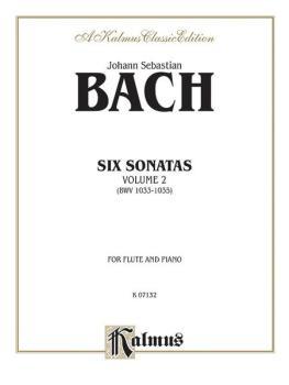 Six Sonatas, Volume II (BWV 1033-1035) (AL-00-K07132)