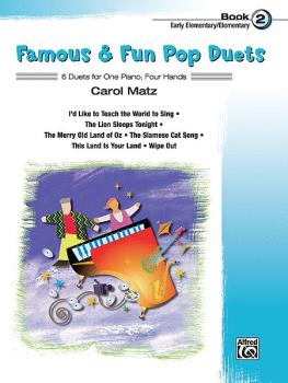 Famous & Fun Pop Duets, Book 2 (6 Duets for One Piano, Four Hands) (AL-00-27706)