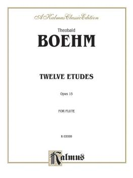 Twelve Studies, Opus 15 for Flute Solo (AL-00-K03099)