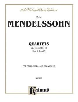 String Quartets, Opus 12; Opus 44, Nos. 1, 2 & 3 (For Two Violins, Vio (AL-00-K03669)