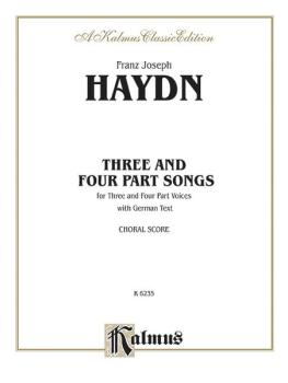 Three and Four Part Songs (AL-00-K06235)