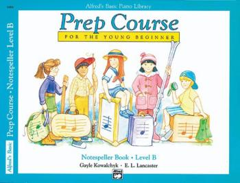 Alfred's Basic Piano Prep Course: Notespeller Book B (For the Young Be (AL-00-6484)