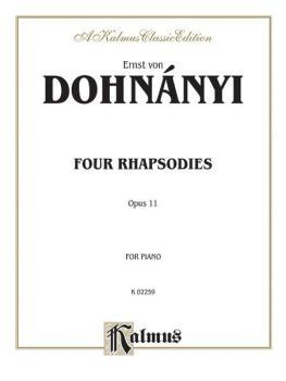 4 Rhapsodies, Opus 11 (AL-00-K02259)