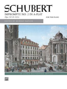 Impromptu, Opus 142, No. 2 (AL-00-6332)