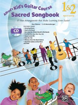 Alfred's Kid's Guitar Course Sacred Songbook 1 & 2: 17 Fun Arrangement (AL-00-43055)