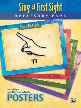 Sing at First Sight Accessory Pack: 32 Solfege and Rhythm Syllable Pos (AL-00-45964)