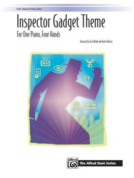 <I>Inspector Gadget</I> Theme (For One Piano, Four Hands) (AL-00-45717)