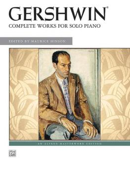 George Gershwin: Complete Works for Solo Piano (AL-00-31882)