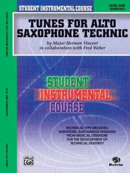 Student Instrumental Course: Tunes for Alto Saxophone Technic, Level I (AL-00-BIC00133A)