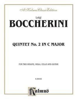 Quintet No. 2 in C Major (For Two Violins, Viola, Cello, and Guitar) (AL-00-K09449)