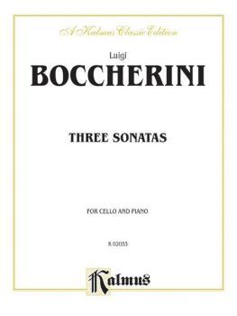 Three Sonatas for Cello and Piano (AL-00-K02033)