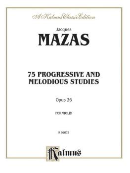 75 Progressive and Melodious Studies, Opus 36 (AL-00-K02075)