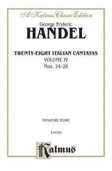 28 Italian Cantatas with Instruments, Volume IV, Nos. 24-28 (Mostly fo (AL-00-K01350)