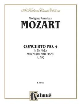 Horn Concerto No. 4 in E-flat Major, K. 495 (AL-00-K03711)