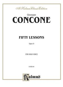 Fifty Lessons, Opus 9 (For High Voice and Piano) (AL-00-K06144)