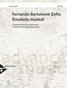 Ensalada Musical: 14 Modern Pieces for Classical Guitar Quartet (AL-01-ADV10402)
