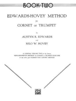 Edwards-Hovey Method for Cornet or Trumpet, Book II (AL-00-EL00102)