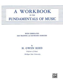 A Workbook in the Fundamentals of Music (AL-00-90107X)