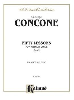 Fifty Lessons, Opus 9 (For Medium Voice and Piano) (AL-00-K06145)