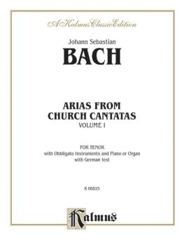 Arias from Church Cantatas, Volume I (12 Arias) (For Tenor, Obbligato  (AL-00-K06825)