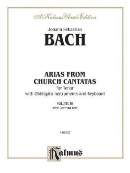 Arias from Church Cantatas, Volume III (4 Arias) (For Tenor, Obbligato (AL-00-K06827)