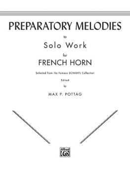 Preparatory Melodies to Solo Work for French Horn (from Schantl) (AL-00-EL00082)
