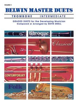 Belwin Master Duets (Trombone), Intermediate Volume 1 (AL-00-EL03289)