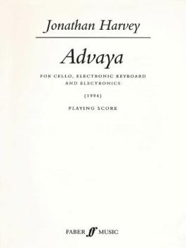 Advaya (For Cello and Electronic Keyboard) (AL-12-0571518885)
