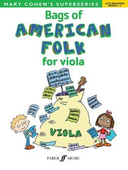 Bags of American Folk for Viola (AL-12-0571534171)