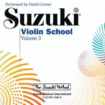 Suzuki Violin School CD, Volume 3 (AL-00-0598)