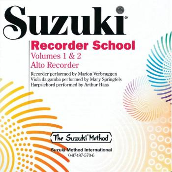 Suzuki Recorder School (Alto Recorder) CD, Volume 1 & 2 (AL-00-0570)