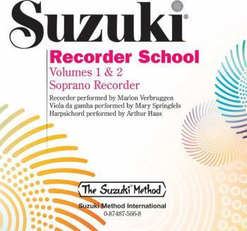 Suzuki Recorder School (Soprano Recorder) CD, Volume 1 & 2 (AL-00-0566)