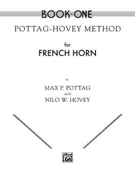 Pottag-Hovey Method for French Horn, Book I (AL-00-EL00073)