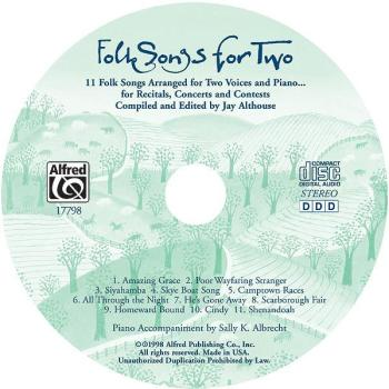Folk Songs for Two: 11 Folk Songs Arranged for Two Voices and Piano .  (AL-00-17798)