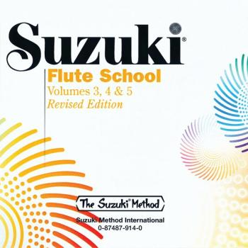 Suzuki Flute School CD, Volume 3, 4 & 5 (Revised): International Editi (AL-00-0914)