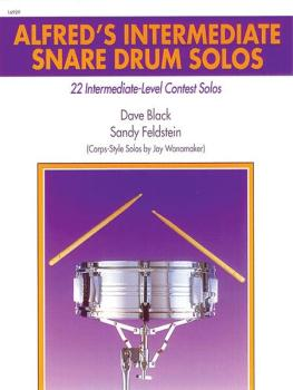 Alfred's Intermediate Snare Drum Solos: 22 Intermediate-Level Contest  (AL-00-16929)