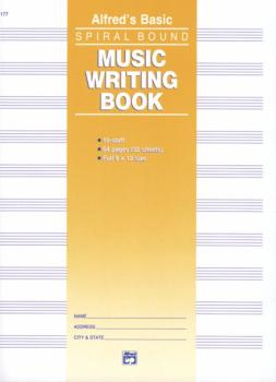 "Music Writing Book (9"" x 12""), 10-Stave (AL-00-177)"