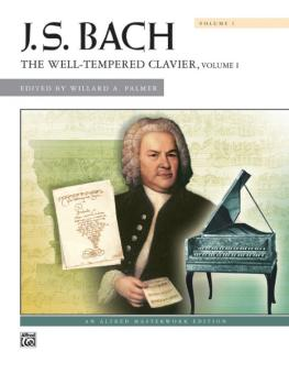J. S. Bach: The Well-Tempered Clavier, Volume I (AL-00-2098C)