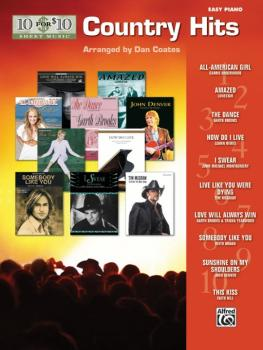 10 for 10 Sheet Music: Country Hits (AL-00-32195)