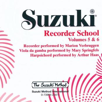 Suzuki Recorder School (Soprano and Alto Recorder) CD, Volume 5 & 6 (AL-00-25910)