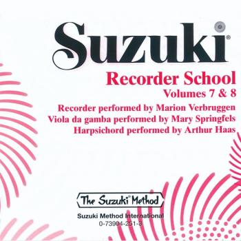 Suzuki Recorder School (Soprano and Alto Recorder) CD, Volume 7 & 8 (AL-00-25911)