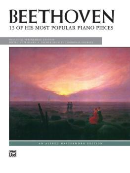 13 of His Most Popular Piano Pieces (AL-00-390)