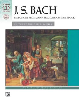 <i>Anna Magdalena's Notebook,</i> Selections from (AL-00-22523)